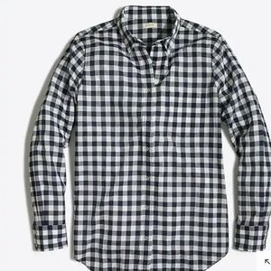 j crew factory blue crinkle gingham boy fit shirt